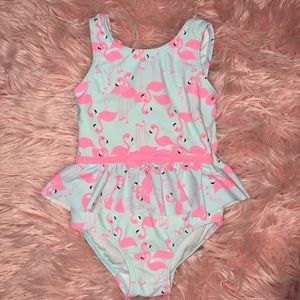 Other - Neon Pink & Light Blue Flamingo Swimsuit